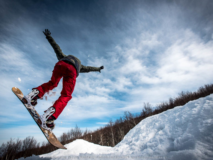 Snowboard Session Pelion Mountain